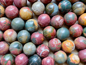 Cherry Creek Network Jasper Sphere || Marble