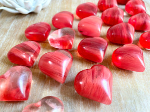 Cherry Quartz Hearts