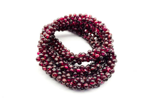 Vintage Garnet Rope Necklace