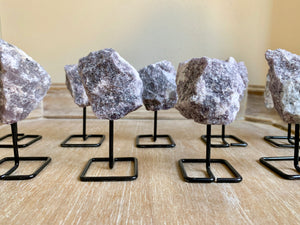Lepidolite Raw on Stand