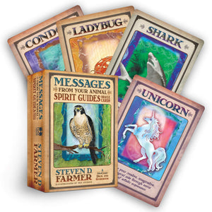 Messages From Your Animal Spirit Guide Oracle Cards & Guidebook || Steven D Farmer