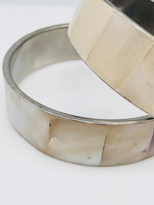 Vintage Mother of Pearl Bangle Bracelet || Reiki Infused