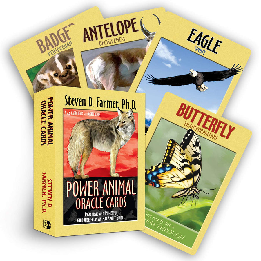 Power Animal Oracle Cards & Guidebook || Steven D. Farmer