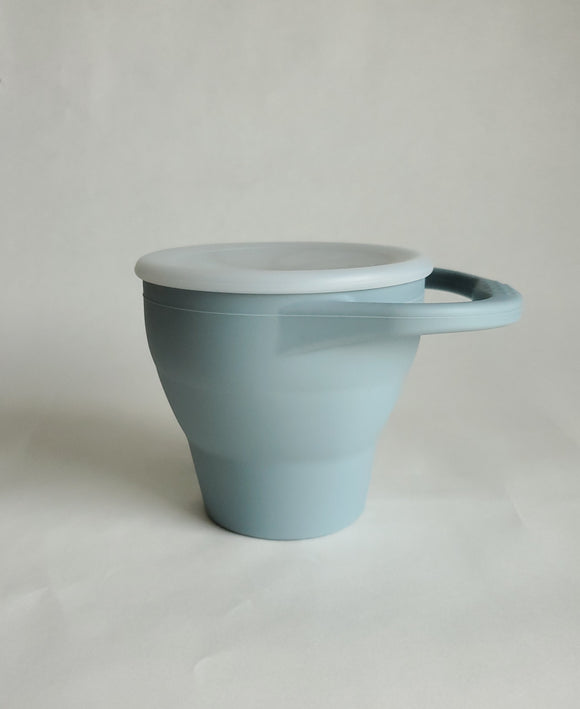 Silicone Snack Cup- Dusty Blue