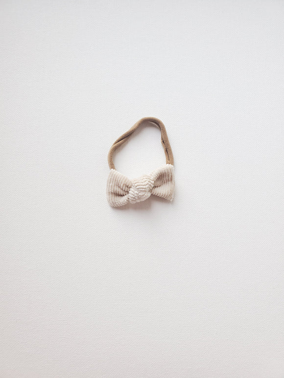 Knotted Mini- Warm Ivory Corduroy