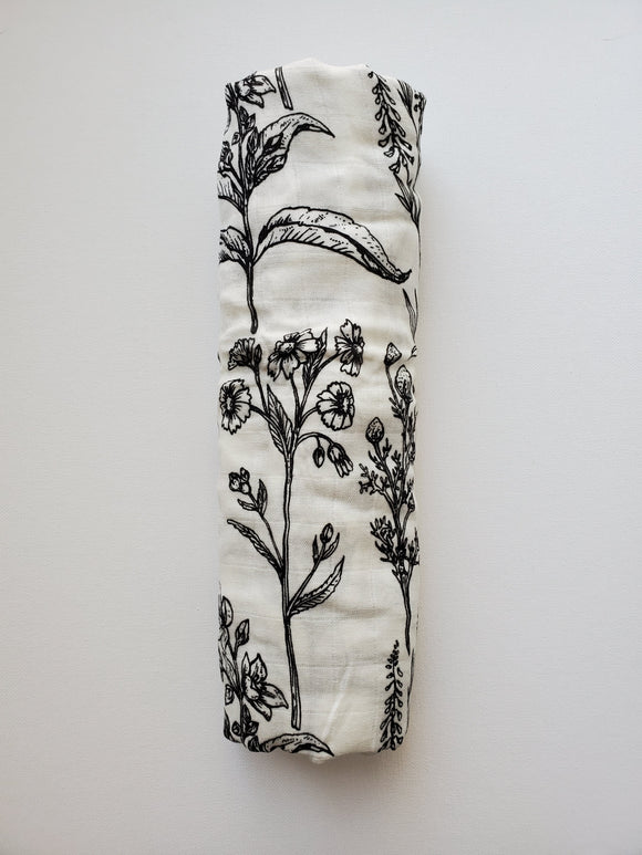 Muslin Swaddle- Floral