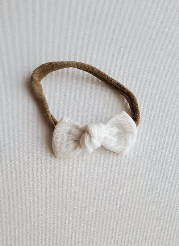 Knotted Mini- White Gauze