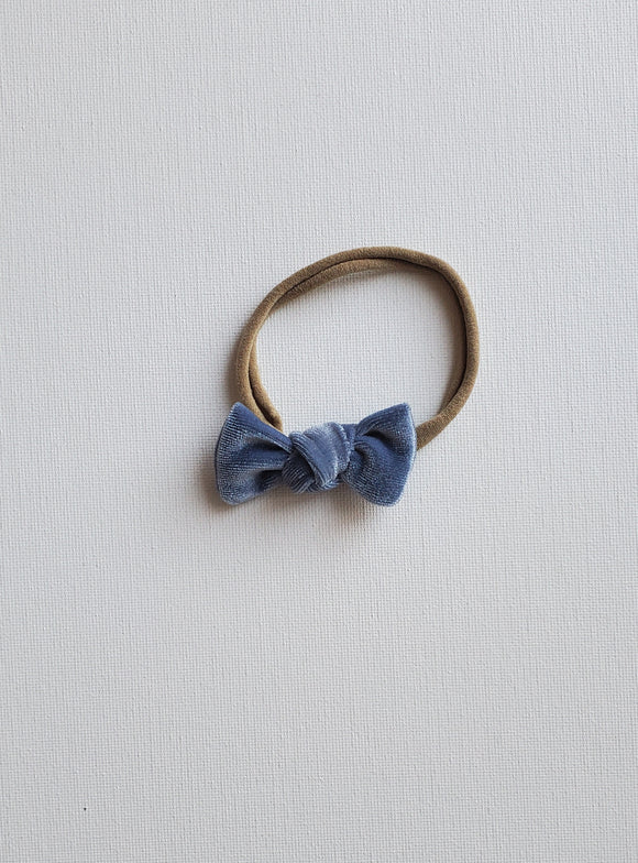 Knotted Mini- Dusty Blue Velvet
