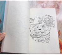 Cat Paradise Coloring Book (64 pages)