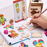 Wooden Cutout Puzzle - Educational Toy