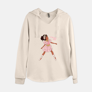 BALLERINA 'TWIRL ON' HOODED SWEAT SHIRT (WOMEN'S)