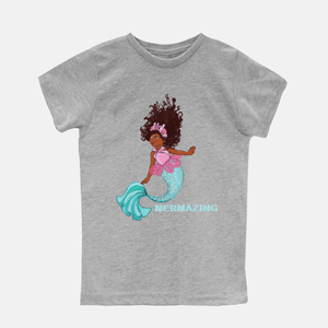 MERMAZING MERMAID SHORT SLEEVE COTTON TEE (TODDLER)