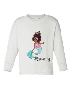 MERMAZING MERMAID LONG SLEEVE TEE (YOUTH)
