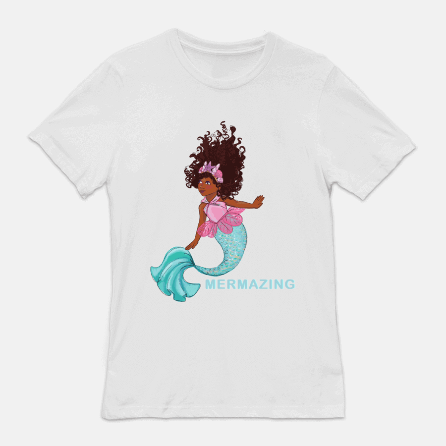 MERMAZING MERMAID SHORT SLEEVE JERSEY TEE (ADULT/UNISEX)
