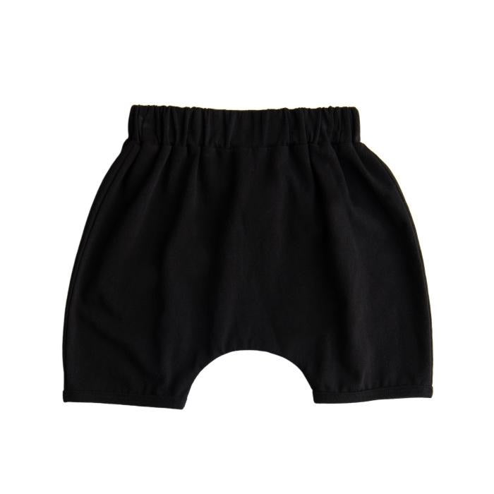 Black slouch shorts