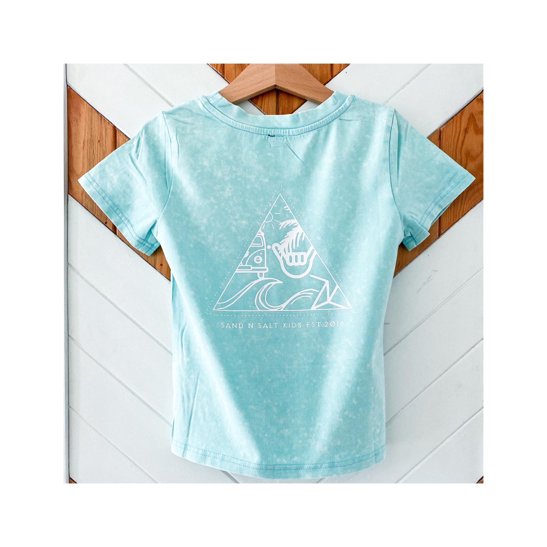 STAY'N SALTY Aqua vintage wash tee