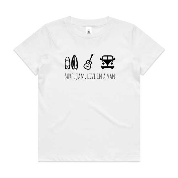 Surf jam live in a van basic tee