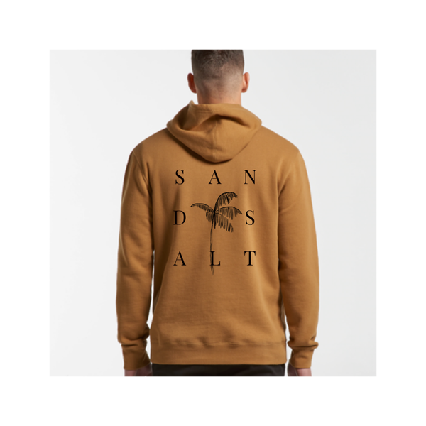 TROPICAL Sand n salt | Men's camel stencil hoodie