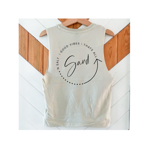 SAND 'good vibes thats all' Raw tank