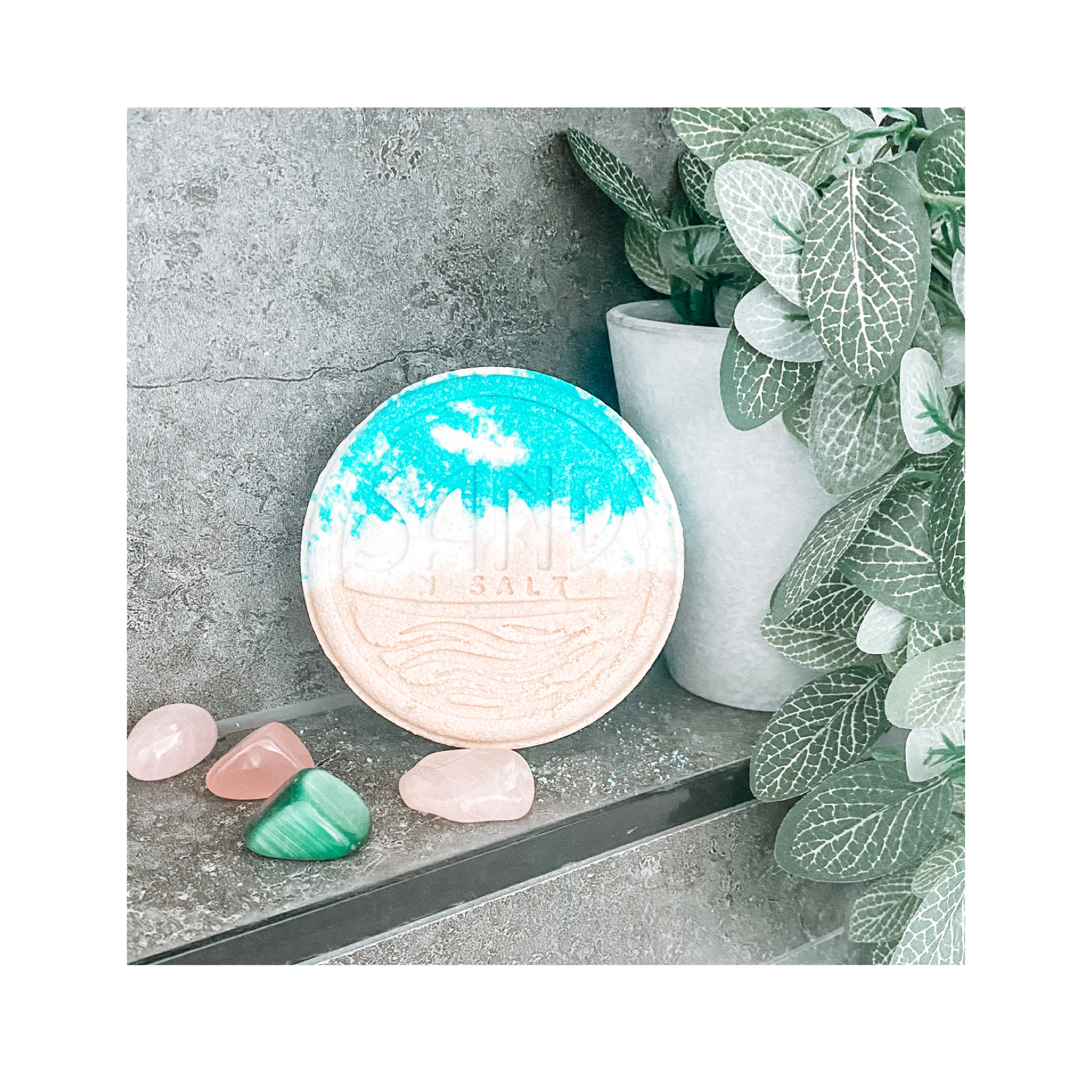 Salt• Sand• Sea bath bomb
