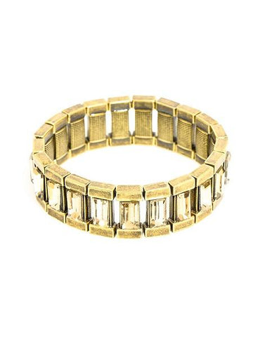 Gemstone Burnside Gold Block Bracelet