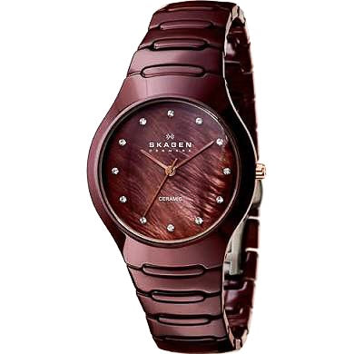 Skagen Brown Ceramic Watch