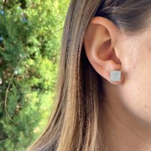 Load image into Gallery viewer, Raw Square Concrete Earrings - structur jewelry co.