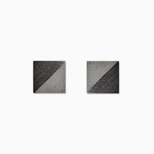 Load image into Gallery viewer, Gunmetal Square Concrete Earrings - structur jewelry co.