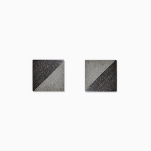 Gunmetal Square Concrete Earrings - structur jewelry co.