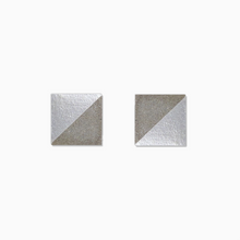 Load image into Gallery viewer, Pearl Square Concrete Earrings - structur jewelry co.