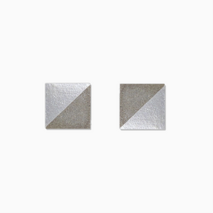 Pearl Square Concrete Earrings - structur jewelry co.