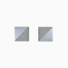 Load image into Gallery viewer, Silver Square Concrete Earrings - structur jewelry co.