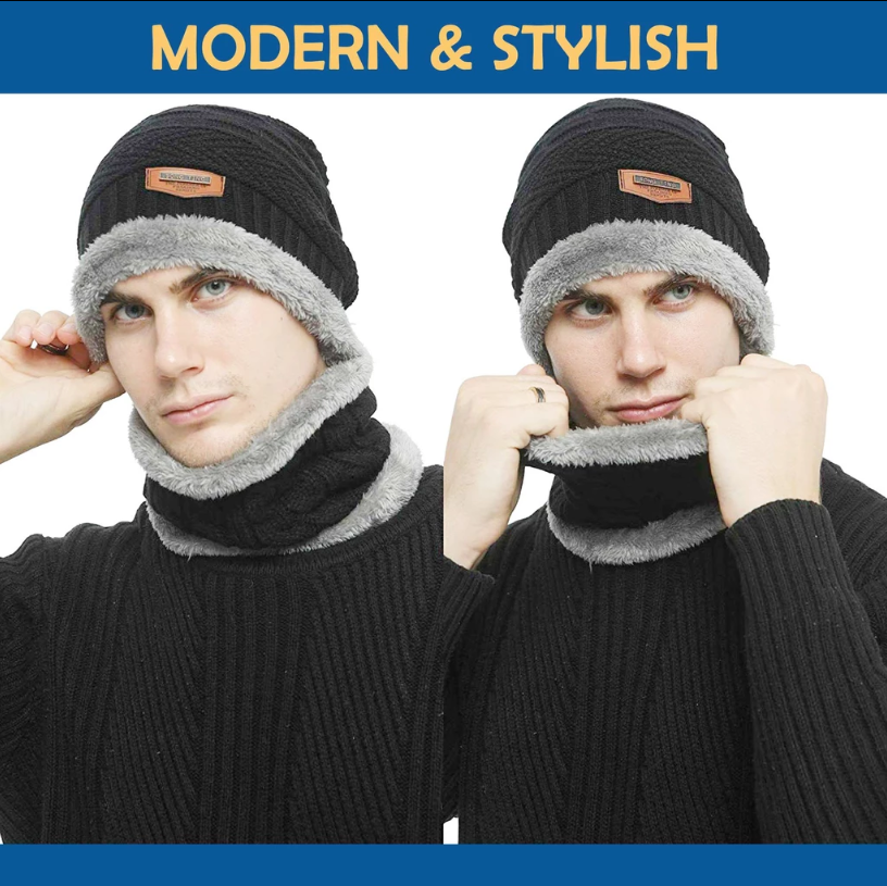(Only $13.99 Now)Beanie Hat Scarf Set