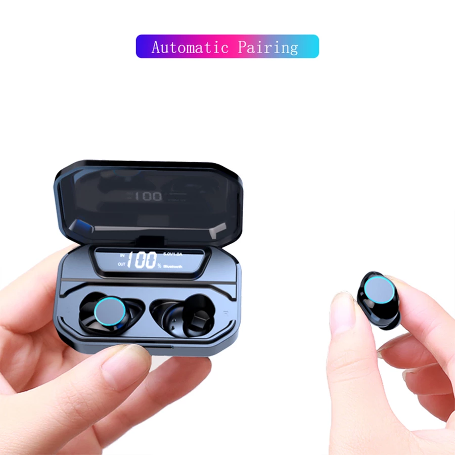 (60% OFF Today) True Wireless Earbuds | Enhanced Display Charger