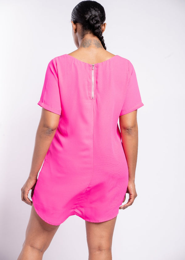 *Tell Me Twice Neon Pink Dress | LAST ONE