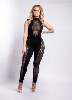 *Baby You Don't Know Net Jumpsuit | LAST ONE