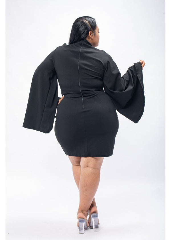 *Black Oversize Sleeve Midi | LAST ONE