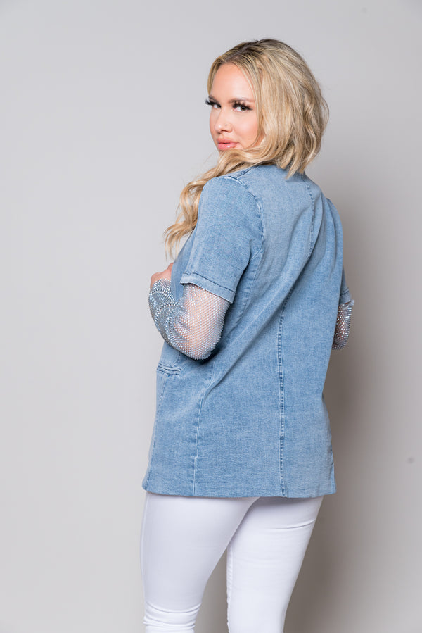 *About That Life Blazer | Denim (Available 04.30.2021)