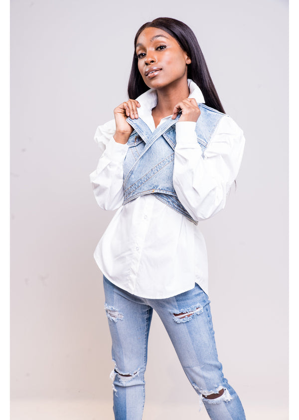 *Styling & Profiling Top | White