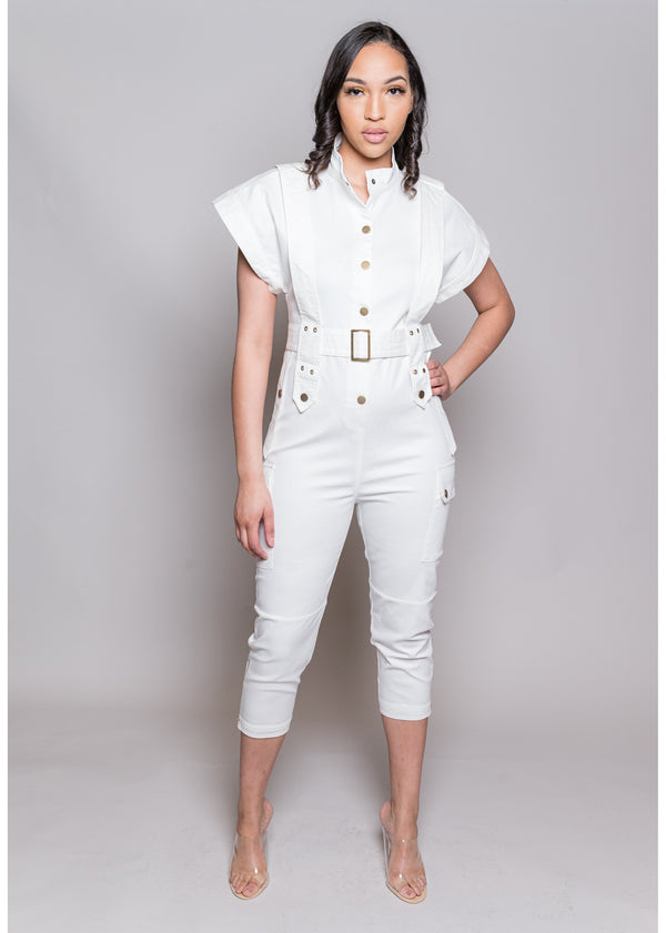 *A Work Of Art Jumpsuit | White