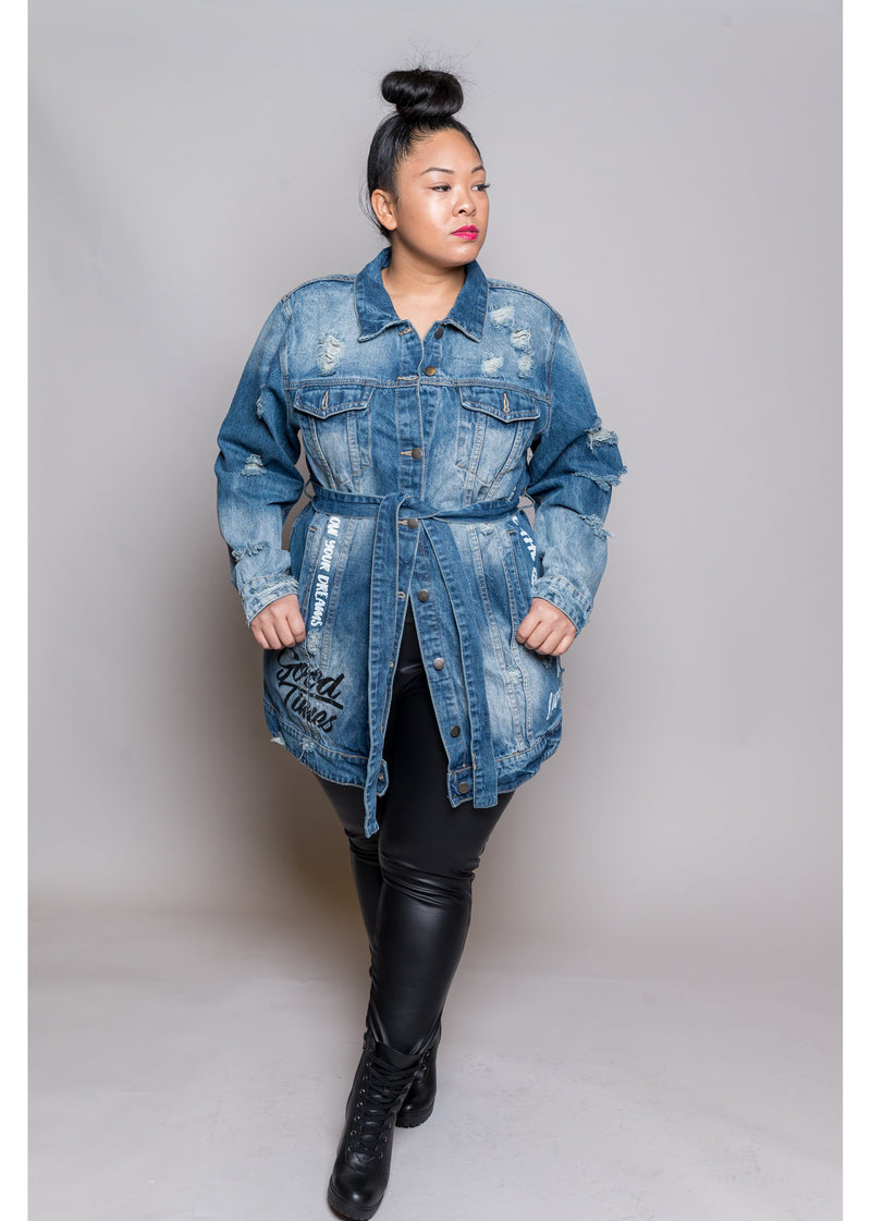 *Live In The Moment | Blue Denim | Curvy
