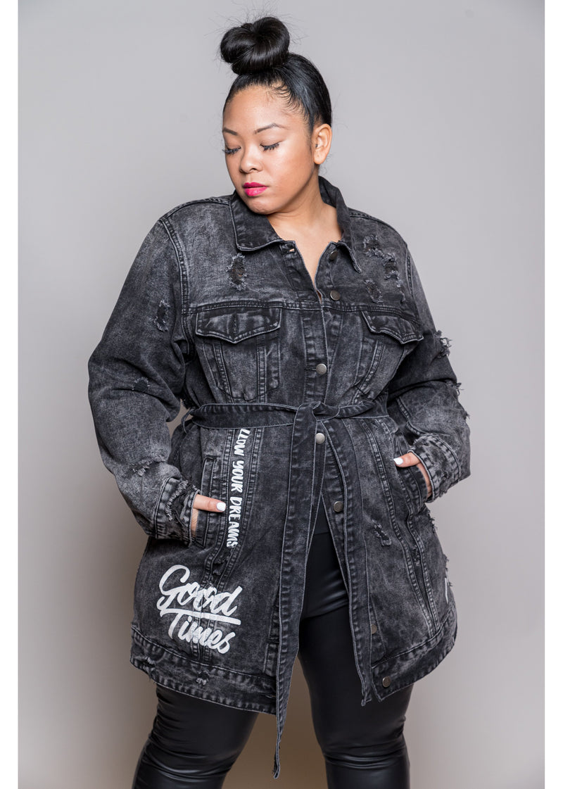 *Live In The Moment | Black Denim | Curvy