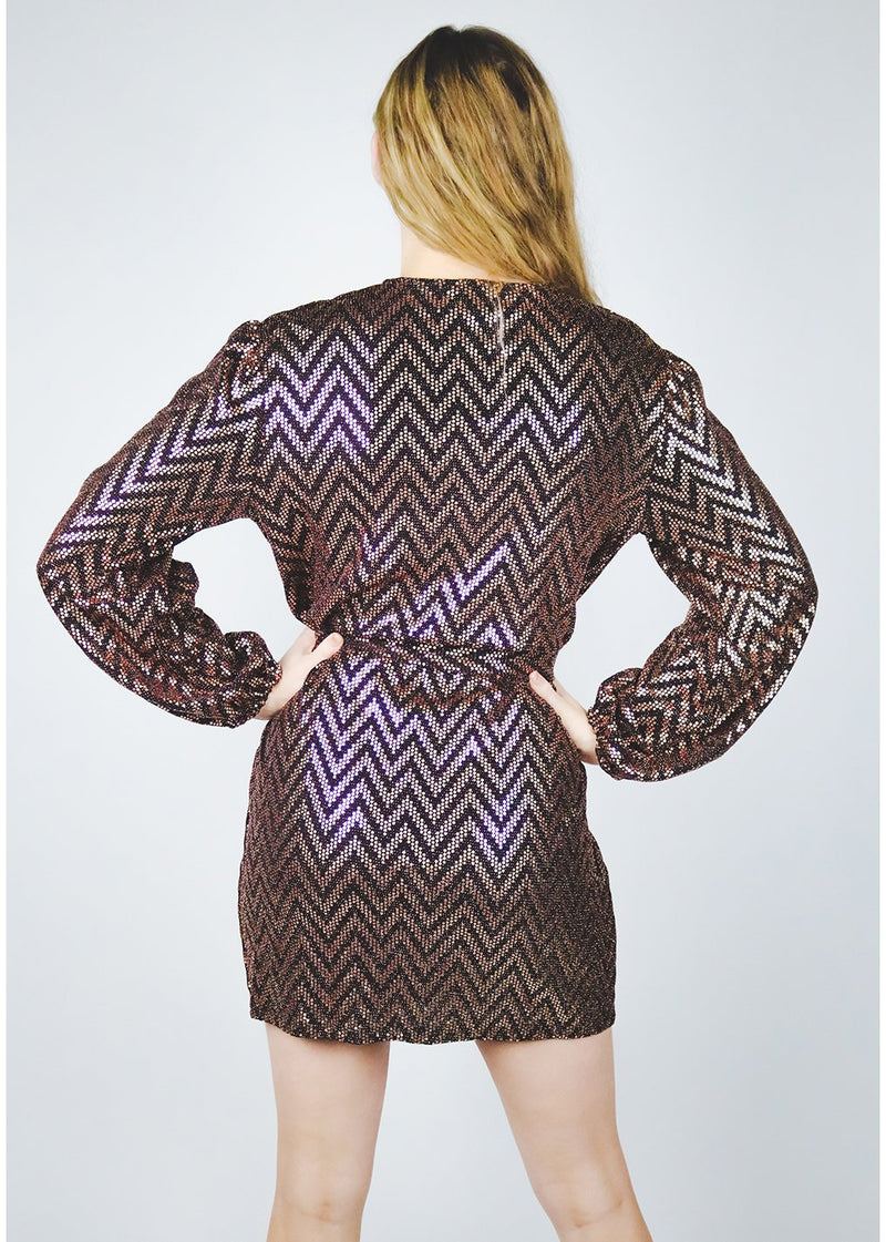 Stone Chevron Dress