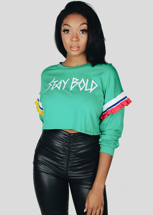 *Stay Bold Top | Green
