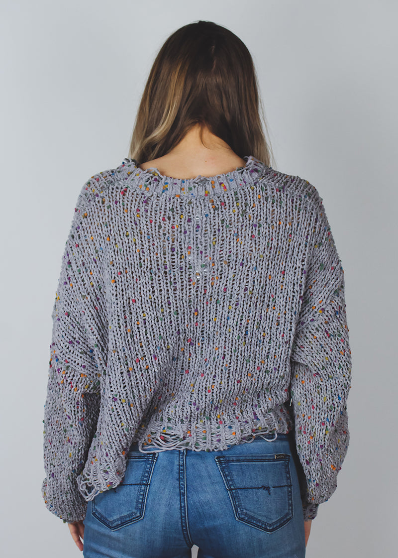 Dotted Sweater | Grey