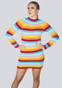 *Rainbow Bright Sweater Dress