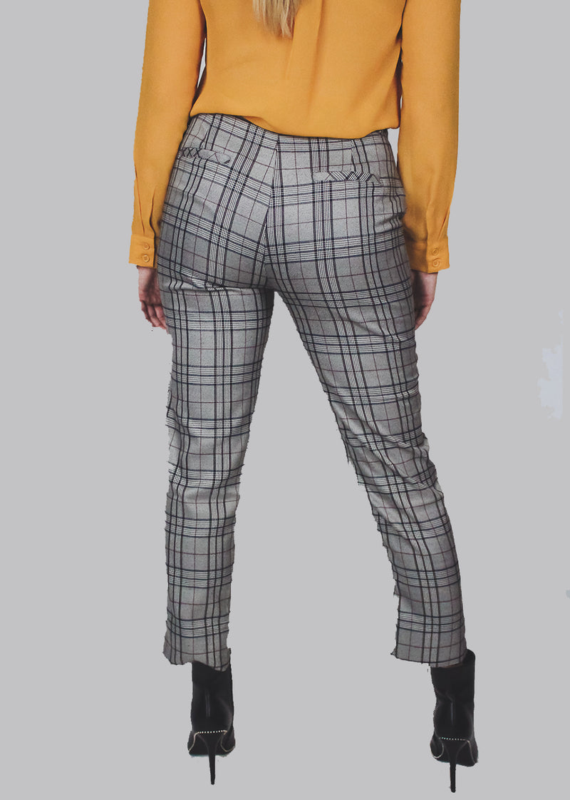 Plaid Chain Pants
