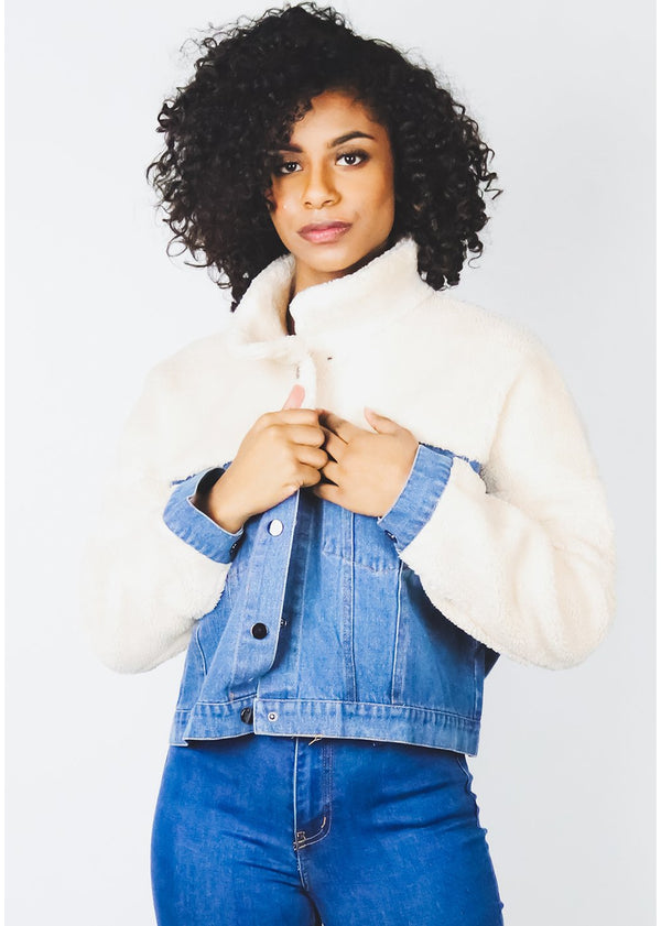 *Plush Denim Jacket | LAST ONE