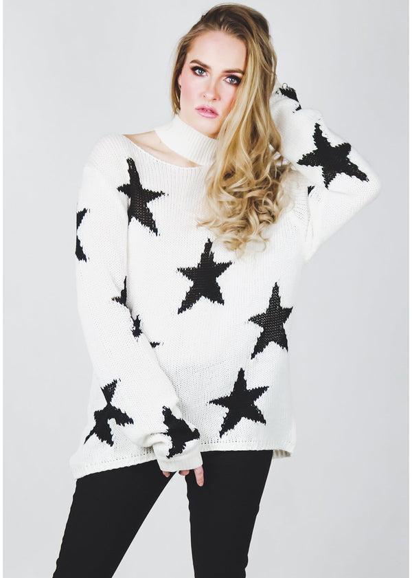 Oh Say Sweater | White