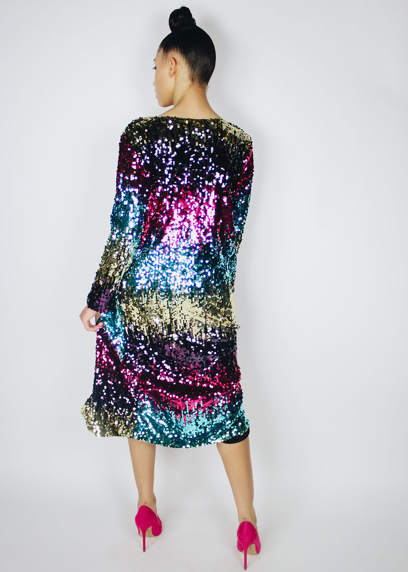 *Rainbow Sequin Cardigan